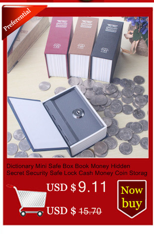 mealheiro livro de bloqueio caixa segura cofre