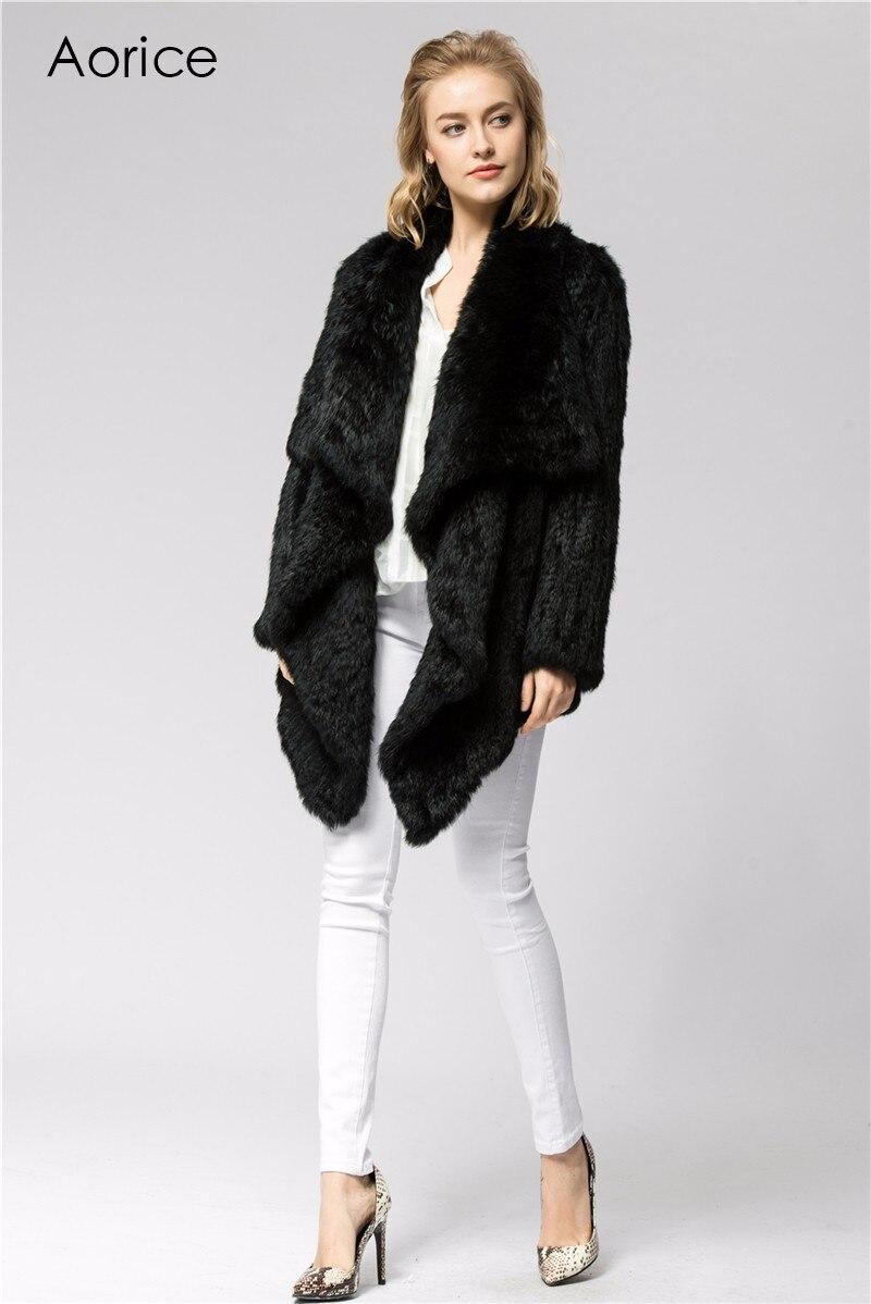 06375c08b682 CR060 5 Strick knit echt kaninchen pelz mantel jacke Russische ...