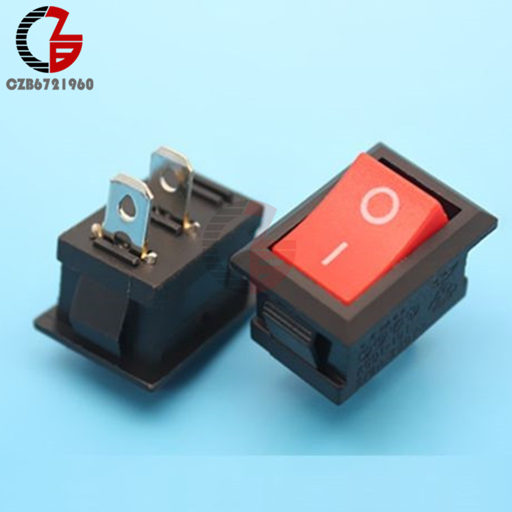 5Pcs/lot 2 Pin Snap-in ON/OFF Position Snap Boat Boat Switch KCD1-101 250V 6A Boatlike Switch