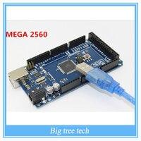 Free Shipping Sduino Mega 2560 R3 Mega2560 REV3 ATmega2560 16AU Board USB Cable Compatible Good