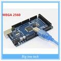 Frete Grátis Sduino Mega 2560 R3 Mega2560 REV3 ATmega2560-16AU Board + Cabo USB Compatível Com Boa Qualidade e Baixo Preço