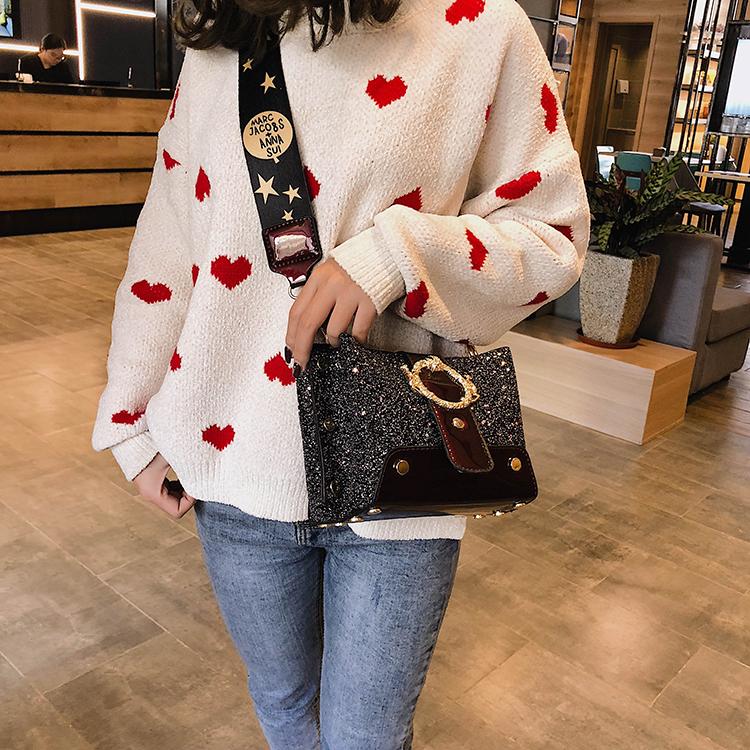 Women Patchwork Handbag Crossbody Bag Soft Leather Square Casual Ladies Chain Shoulder Girl Chain Messenger Satchel Bag louis 26