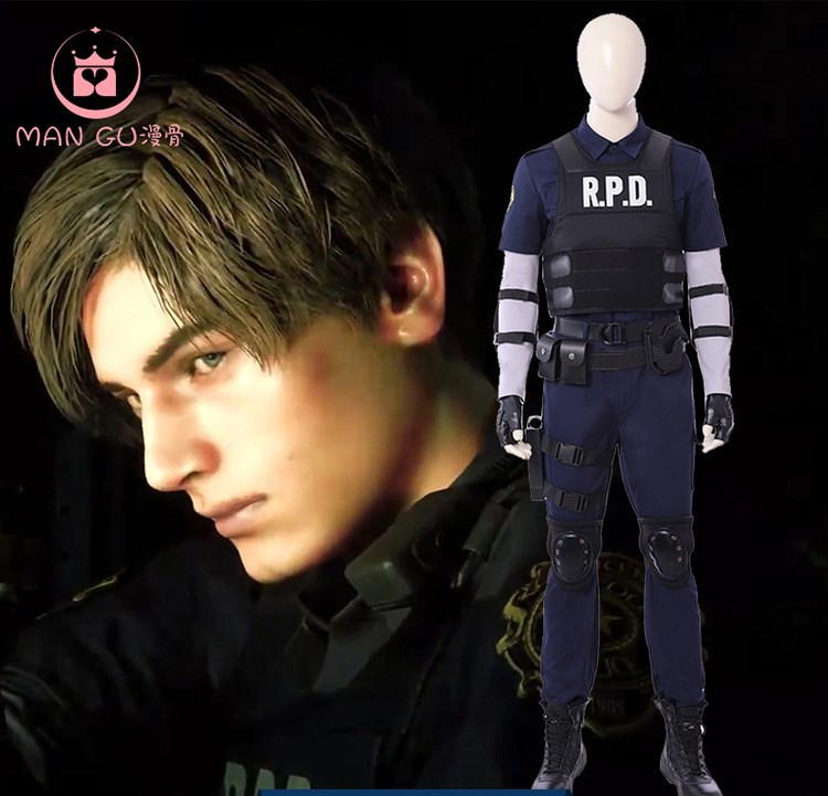 Resident Evil 2 Leon Scott Kennedy Cosplay Costume Uniform Outfit