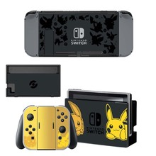 Nintend Switch Console+ Joy-Con Controller Vinyl Skin Sticker Set for Pokemom Protective Skins for NS Switch