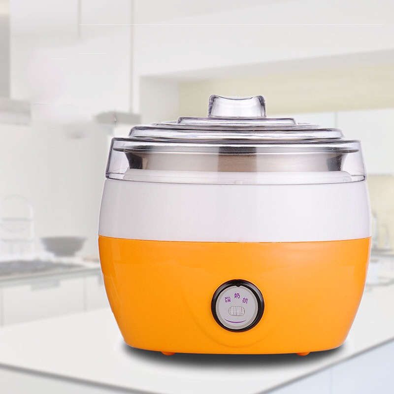 Electric Automatic Yogurt Maker Stainless Steel Liner Container acidophilus Milk Tools Household Yogurt Machine AC220V hot selling electric yogurt machine stainless steel liner mini automatic yogurt maker 1l capacity 220v