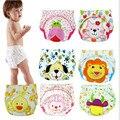 2 unidades de algodón bebé pañales reutilizables pañal de tela lavable/LABS formación pantalones calzoncillos infantiles ropa interior de la muchacha