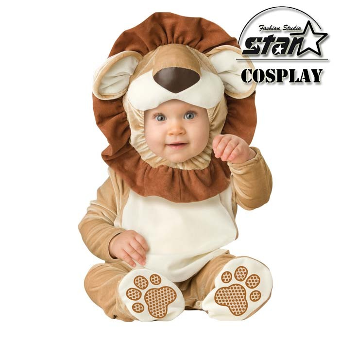 Direct Selling Lovable Lion Infant Costume Baby Romper Toddler Jumpsuit Infantil Animal Fantasia Halloween Fancy Cute Baby Sets