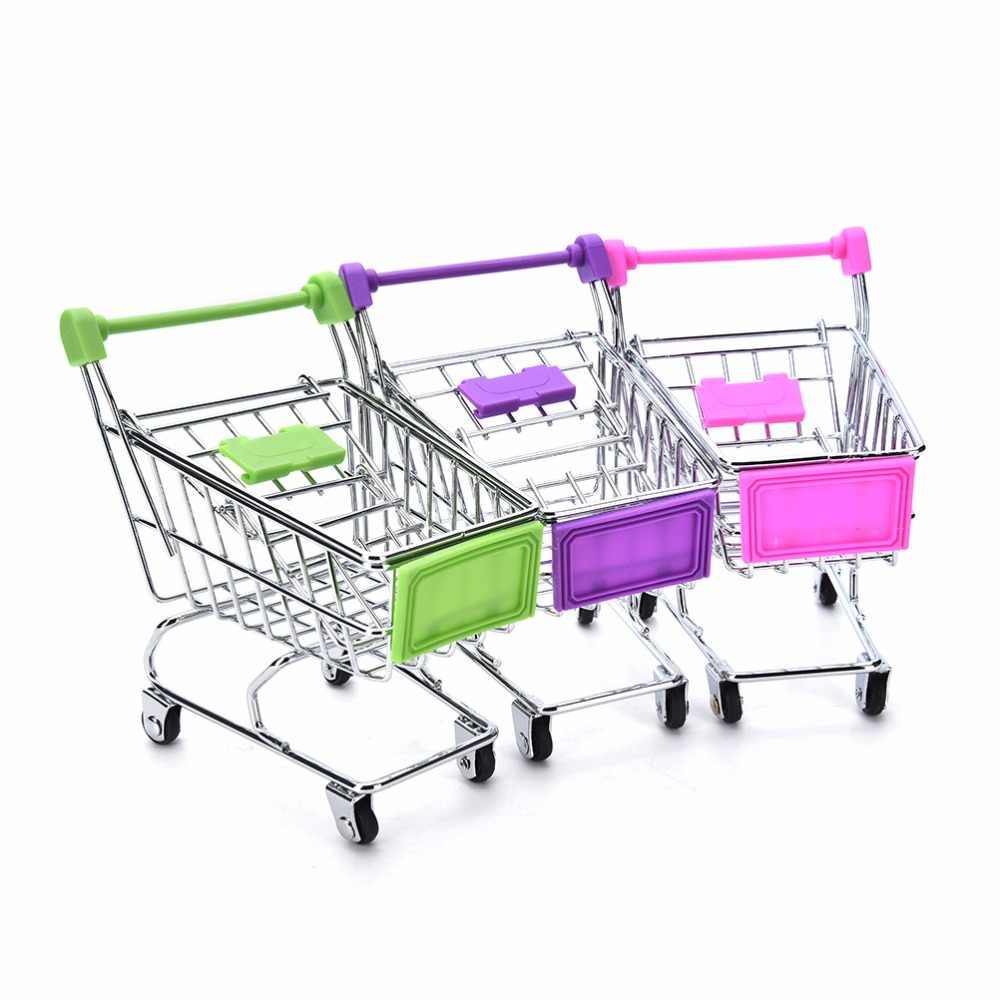 Mini Supermarkt Handkarren-einkaufen Utility Warenkorb Modus Lagerung Spielzeug Kind Warenkorb Spielzeug Veranstalter Handwerk Lagerung Körbe