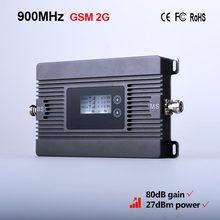 Высокая Мощность мини 900 мГц GSM 2 г Мобильный усилитель сигнала 80dBi ретранслятор сигнала 2 г/м² усилитель сигнала сотовой только устройство + вилка