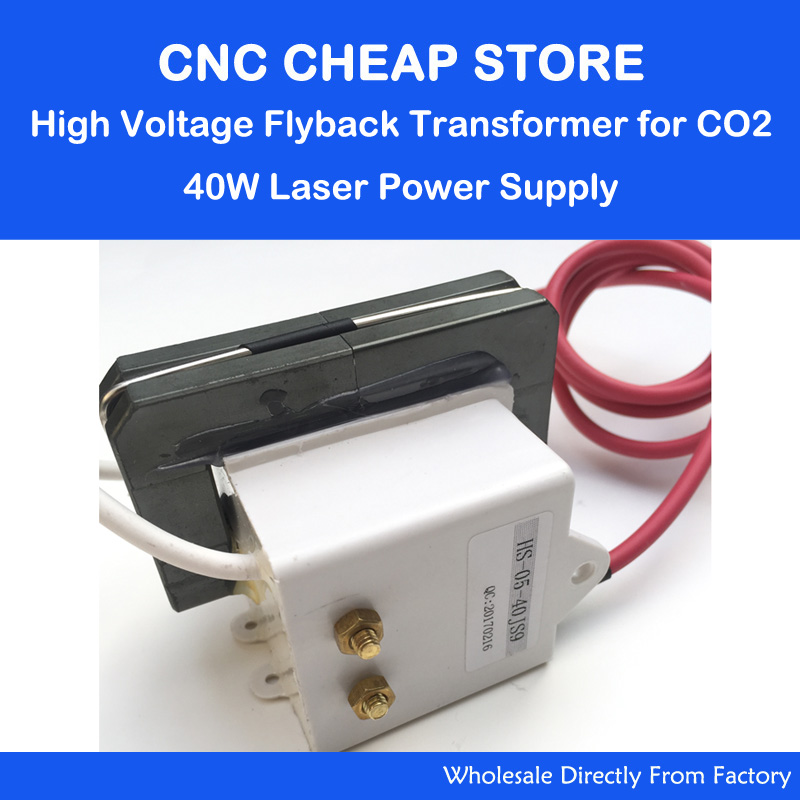 High Voltage Flyback Transformer 40W for CO2 Laser Tube Power Supply MYJG-40 K40 3020 3040 Laser Engraving Cutting Machine