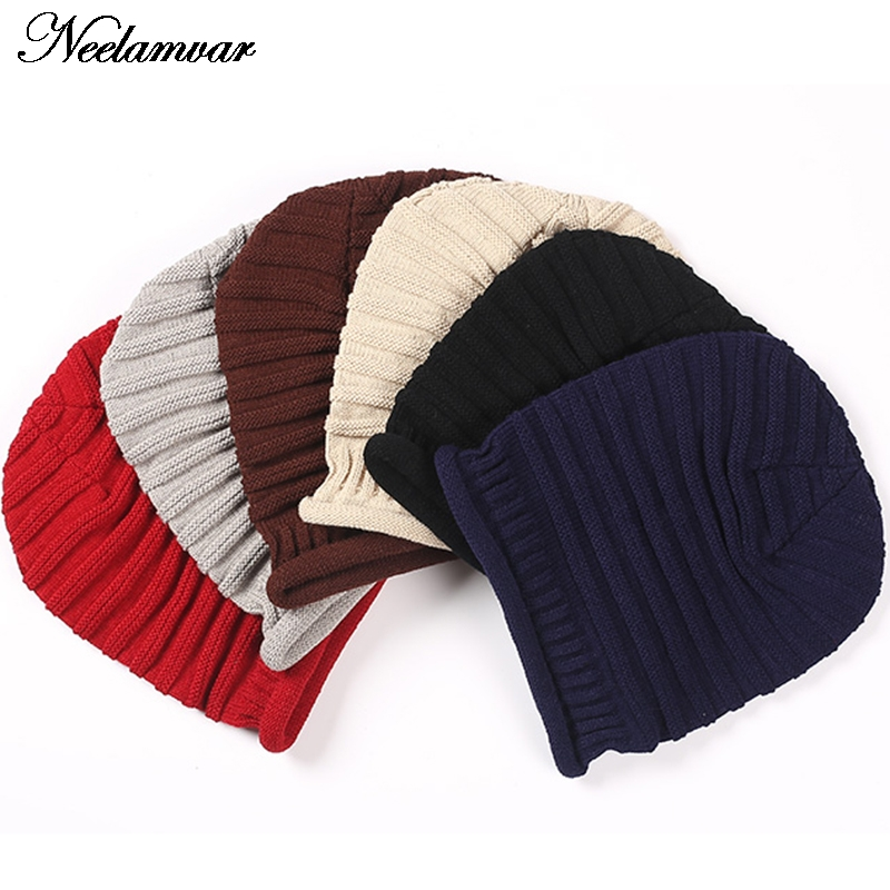 Winter Unisex Knitted Hat Casual Beanies for Men Women stripe Hats  Skullies Bonnet Unisex Cap Gorro invierno free shipping 3pcswinter beanie women men hat women winter hats for men knitted skullies bonnet homme gorros mujer invierno gorro feminino