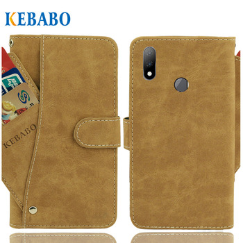 """Vintage Leather Wallet BQ BQ-6200L Aurora Case 6.2"""" Flip Luxury 3 Front Card Slots Cover Magnet Stand Phone Protective Bags"""