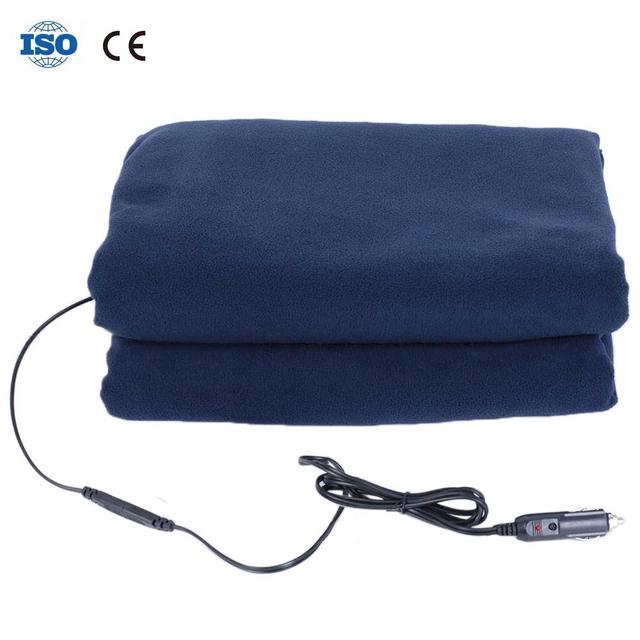 New Winter Hot Navy Blue Fleece 12v Car Constant Temperature Heating Blanket Electric Supplies