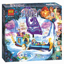 BELA 10411 Friends Girl Naida Epic Adventure Ships Building Blocks 311pcs Bricks Educational toys Compatible Legoe Elves