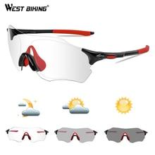 WEST BIKING Photochromic Cycling Glasses MTB Bike Sunglasses Protection Goggles UV400 Outdoor Sports Women Men Bicycle Eyewear