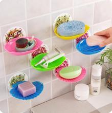Seamless Leaves Bathroom Soap Box Wall Shelf 2 Pcs Lot Multifunctional Drainer font b Rack b