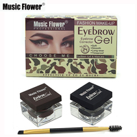 Music Flower Brand Multi Eyebrow Makeup Eye Brow Gel Eyeliner Gel Mascara Eye Liner Set Black