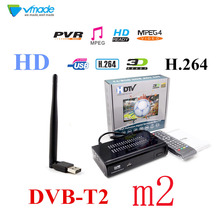 Newest TV box HD M2 FTA DVB T2 Terrestrial Receiver DVB-T2 MPEG-2/4 H.264 Support Youtube HDMI Set Top Box TV Tuner + USB WIFI