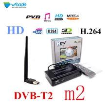 Newest TV box HD M2 FTA DVB T2 Terrestrial Receiver DVB-T2 MPEG-2/4 H.264 Support Youtube HDMI Set Top Box TV Tuner + USB WIFI