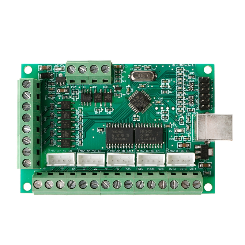 CNC USB MACH3 100Khz Breakout Board 5 Axis Interface Driver Motion Controller 100% brand new & high quality high quality sbc 659 b1 1 pci interface half liong board 100