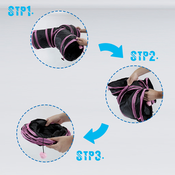 Collapsible Cat Tunnel Toy 5