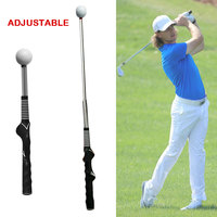 Golf Swing Trainer Golf Telescopic Pole Action Correction Device Trainging Aids Retractable Golf Club A229 Black Practical