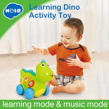 HOLA 6105 Talking Dinosaur Toy with Lights and Sounds for Kids - Fun Action, Learning Toys for Boys and Girls