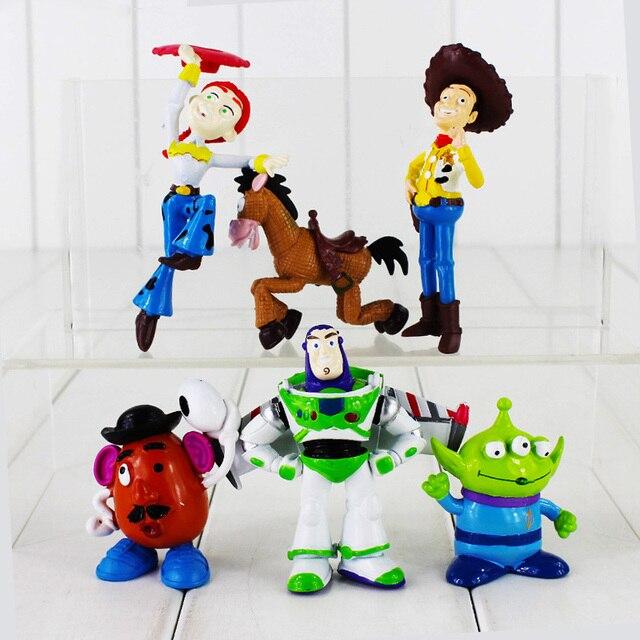 6pcs lot Toy Story Figure Toy Woody Buzz Lightyear Jessie Alien Bullseye  Horse Mr. Potato Head Mini Model Animal Doll for Kids bcdb91579ee