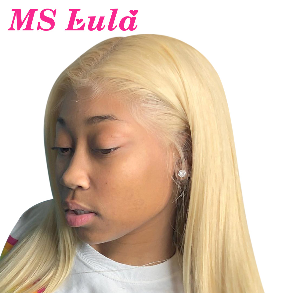 Ms Lula Straight Blonde 13x6 Lace Front Human Hair Wigs Pre Plucked With Baby Hair Brazilian Lace Frontal Wig 613 Remy Hair Wigs