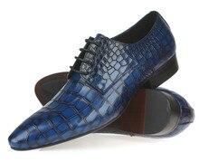 Змеиный синий/Черный/кофе 2017 новые свадебные обувь мужская бизнес обувь из натуральной кожи оксфорды мужские платья обувь