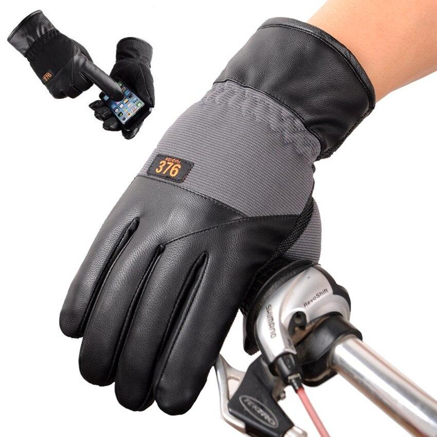 Touch Screen Korean Winter Keep Warm Thicken Gloves Male Sports Riding Antiskid Warmth Skiing Windproof Cotton Gloves YF55