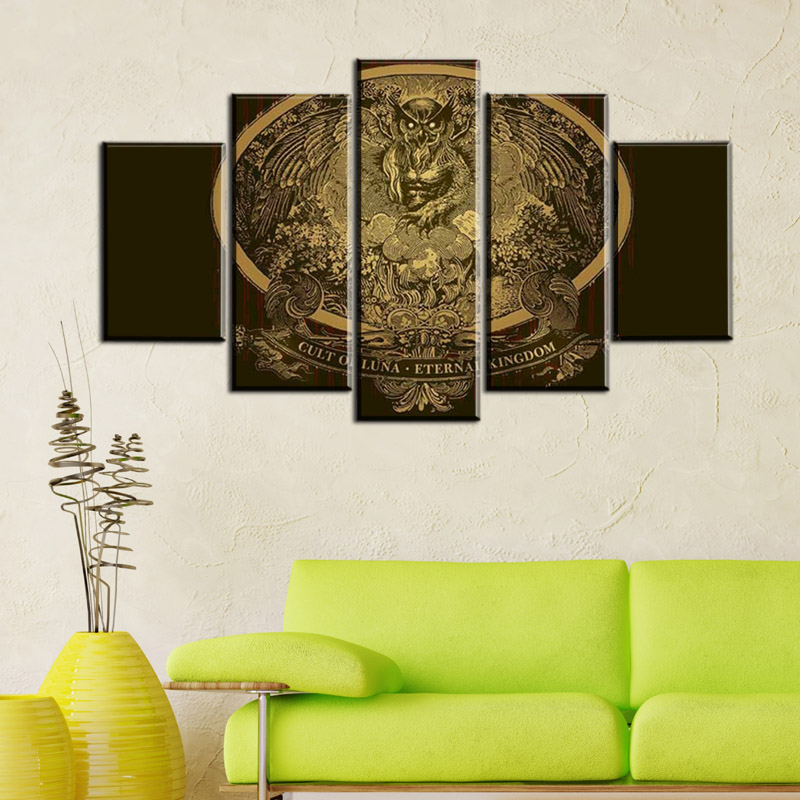 5 Panels No Frame Eternal Kingdom Band Wall Art Picture Home Decoration Living Room Canvas Print Painting Wall picture on canvas-in Painting u0026 Calligraphy ... & 5 Panels No Frame Eternal Kingdom Band Wall Art Picture Home ...