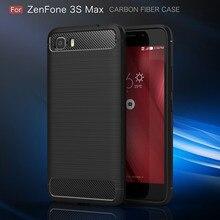 Pour ASUS Zenfone Pegasus 3 s Max ZC521TL X00GD 5.2 ''Complet Housse De Protection Antichoc En Fiber De Carbone Souple TPU dos Capa Coque(China)
