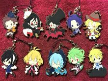 10pcs/lot Servamp Anime keychain VAMPIRE MAHIRU KURO SNOW LILY JEJE HYDE Rubber strap/mobile phone charms G313(China)