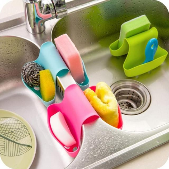 multi purpose kitchen sink suction cup shelf debris rack washing sponge drain rack storage box - Kitchen Sink Definition