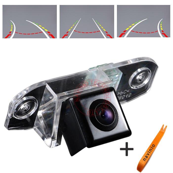 CCD piste caméra voiture Directive aide au stationnement trajectoire d'inversion pour VOLVO S80 SI40 XC60 XC90 S40 C70 S80L S40L S80 XC90HD