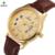 Reloj Mujer 2016 Casal Relógios Vestido Dos Homens Das Mulheres À Prova D' Água relógio de Pulso Dos Homens de Ouro Senhoras Relógio Amantes de Quartzo Relógios de Couro Xfcs