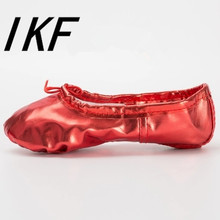 Size 22-44 Women Soft Ballet Dance shoes PU Leather Yoga Shoes Ballet Dance  Dancing Shoes Pointe For Children Kids Girls Women 029752ceffae