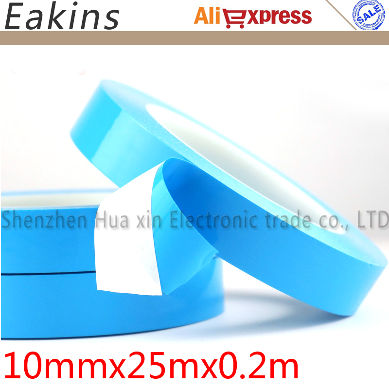 10mm*25m Glass fiber Thermal double-sided adhesive tape Thermal Thermally Conductive Tape heat conduction Tape for LED PCB