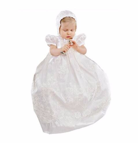 Enchanting Christening Dress Baby Girl Baptism Gown Lace Applique Ivory High Quality Custom outfit недорго, оригинальная цена