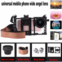 Galaxy S8 Plus Cellphone Mobile Phone Wide Angel Lens Macro 2 In 1 Lenses For Iphone