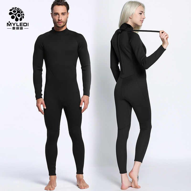 Liefhebbers 2mm zwart wetsuit Siamese surf kleding koude outdoor strand badpak duiken duikpak