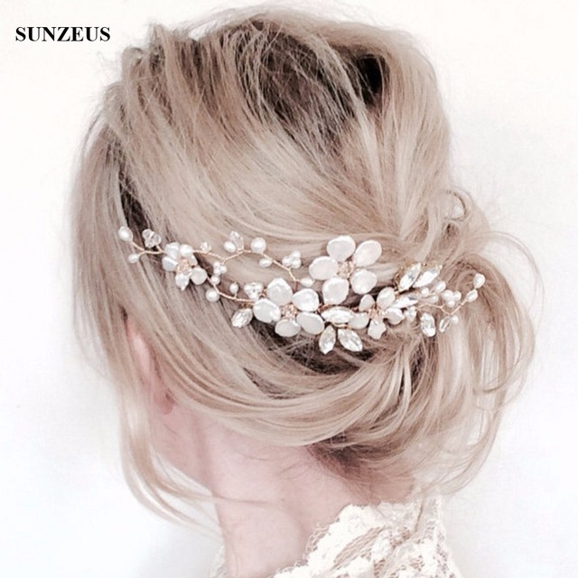 2018 New Arrival Pearls Bridal Hair Comb Hand-made High Quality Flower Wedding Hair Accessories SQ0146