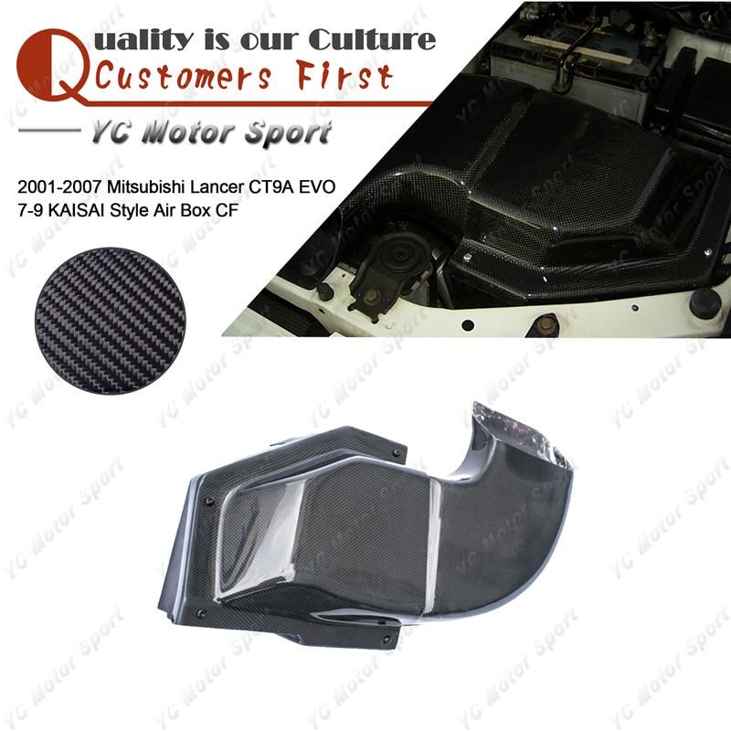 Car Accessories Carbon Fiber KAISAI Style Air Box Fit For 2001-2007 Lancer CT9A Evolution 7-9 EVO 7 8 9 Air Box