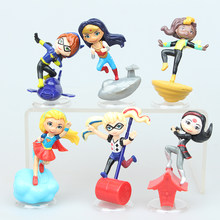 NEW hot 7cm 6pcs/set Wonder Woman Supergirl superman Superhero action figure toys collection doll Christmas gift(China)