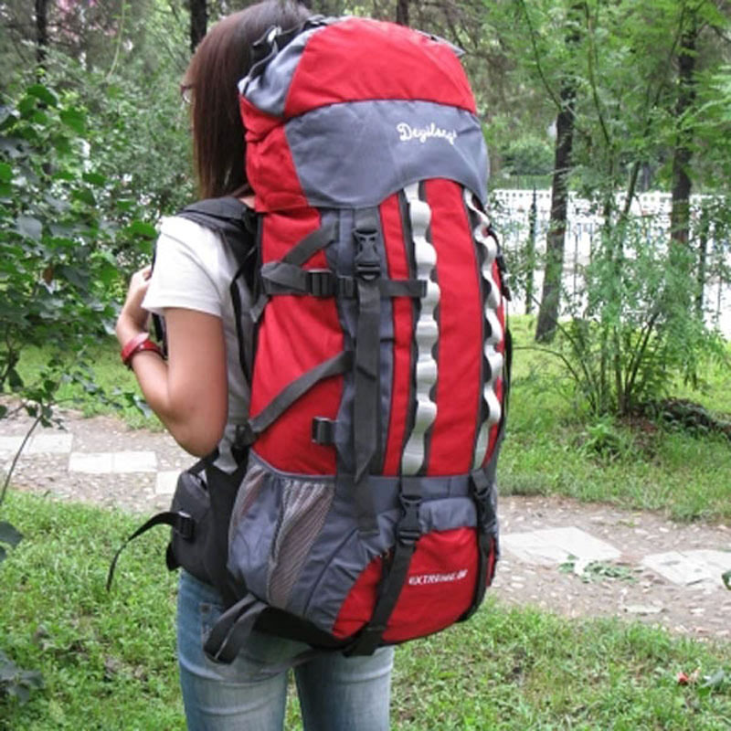 65L Outdoor Rock Climbing Mountaineering Bag Travel Luggage Oxford ...