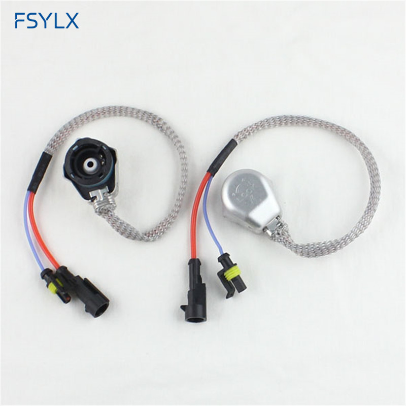FSYLX D2S D2R D2C XENON HID BULB SOCKET WIRE CABLE ADAPTOR CONNECTOR HARNESS D2S D2R D4 AMP HID ADAPTER CONVERTER SOCKET CABLES fsylx xenon headlight d2s d2c hid bulb d2 amp hid wiring harness cable 35w car d2s d2c hid xenon headlight fog lamps bulbs