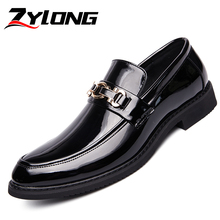 Luxury Men Dress Shoes Black High Quality Mens Formal Business Oxford Male Wedding Elegant White