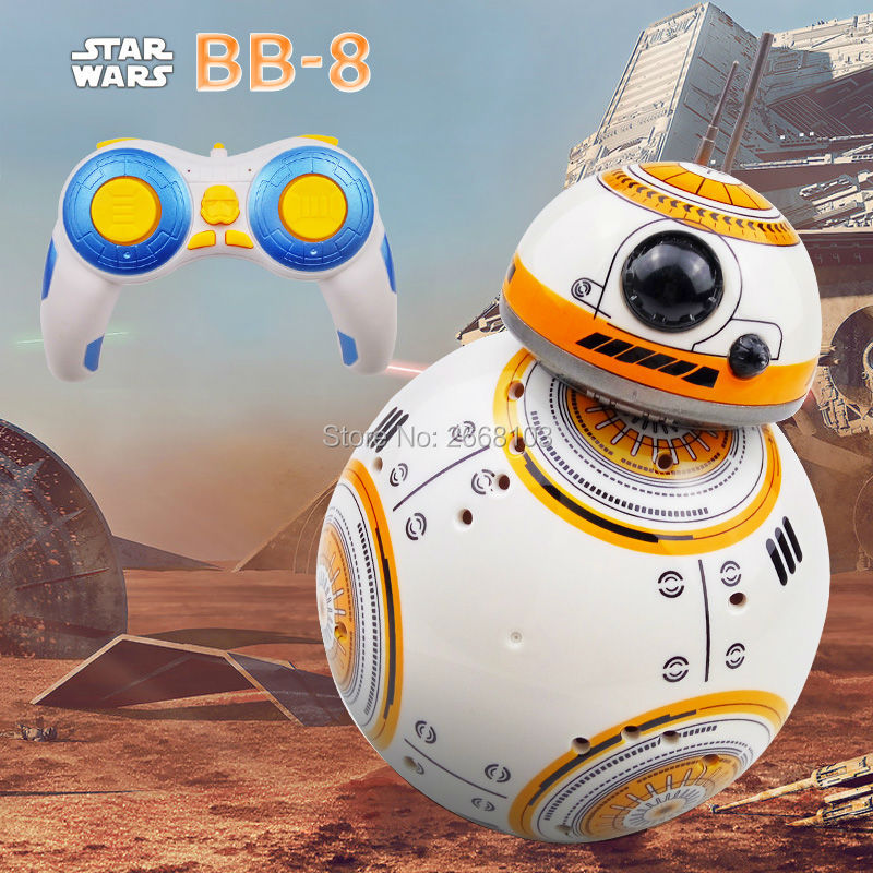 Hurtig levering Star Wars BB-8 2.4G Fjernbetjening Robot Opdateret Version BB8 Smart Robot Lyder RC Ball Gaver Toy For Boy Children