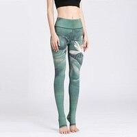 2017 New Lotus Print Sporting Leggings Women Sexy Fitness Legging For Women Sportswear Trousers Femme Elastic